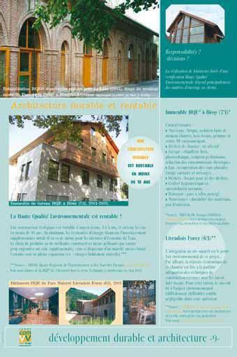 Exposition Architecture Durable Et Rentable