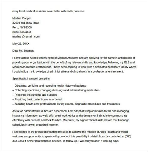 Entry Level Assistant Cover Letter by Entry Level Cover Letter Template 11 Free Sle