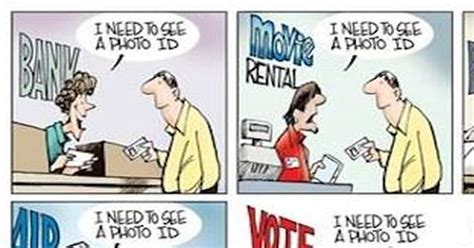 Hilarious Cartoon Destroys Democrat's Voter Id Arguments