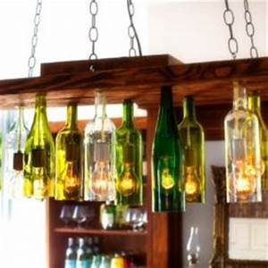 unique chandeliers made out of recycled wine bottles With kitchen colors with white cabinets with how to turn a wine bottle into a candle holder