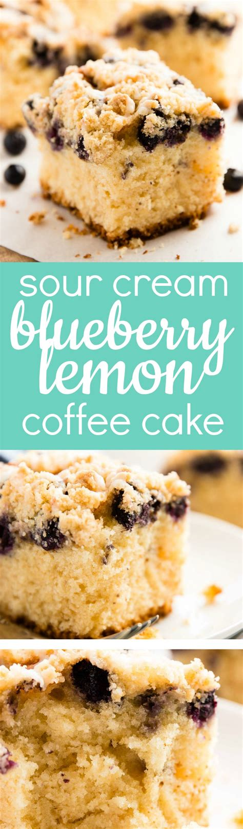Anyway before i made this i reviewed the comments and agree it would have been a challenge to divide the batter and spread. Sour Cream Lemon Blueberry Coffee Cake Recipe - The best thing to serve unexpected guests! So ...