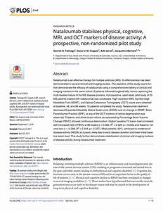 (PDF) Natalizumab stabilizes physical, cognitive, MRI, and ...
