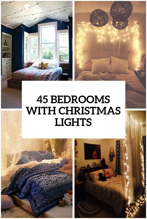 ideas  hang christmas lights   bedroom shelterness