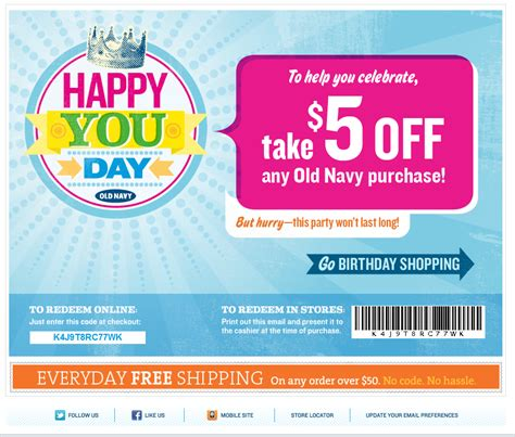 birthday coupon free 5 any navy purchase printable coupon and coupon code print coupon king