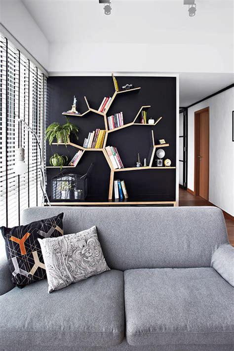 unique built  shelf designs home decor singapore