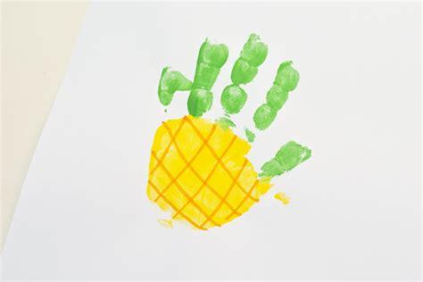 letter p pineapple handprint for preschoolers 590 | Pineapple 1