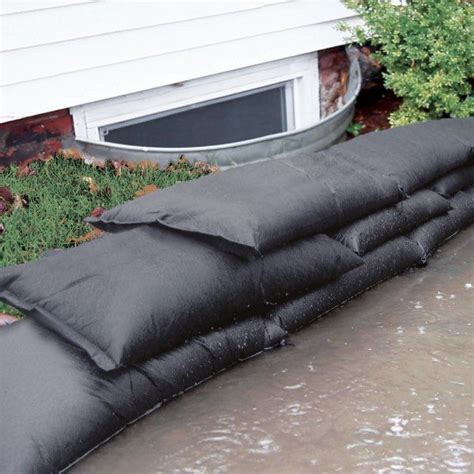 sandless sand bags  flood prevention  sand required