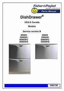 Fisher  U0026 Paykel Dishwasher Dd603 User U0026 39 S Guide
