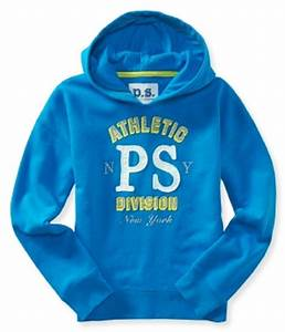 New Aeropostale PS Girls Cotton Blend Blue Popover Hoodie ...