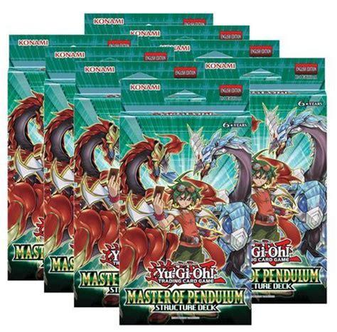 best pendulum deck list structure deck master of pendulum box of 8 decks 1st