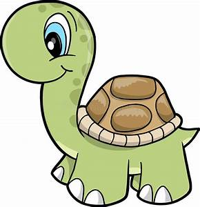 Cute Safari Turtle Vector Illustration Stock Vector ...