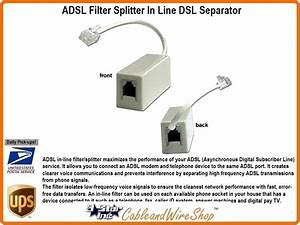 Adsl Filter In Line Dsl Removal