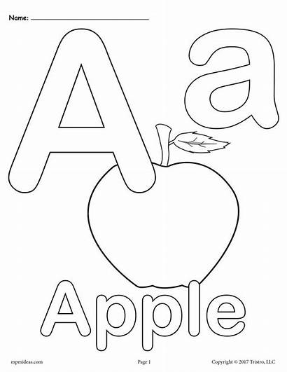 Coloring Alphabet Letter Printable Pages Lower Versions