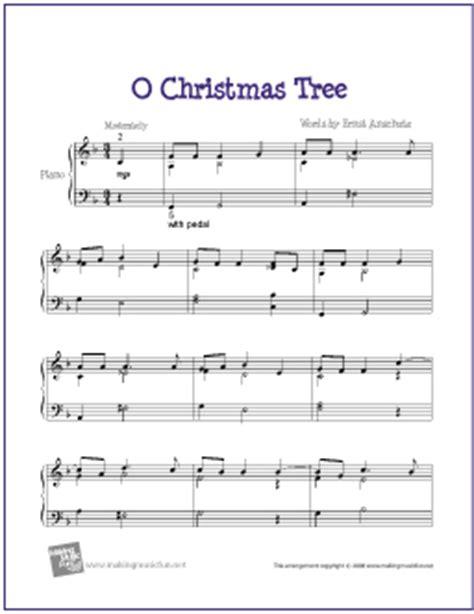 o christmas tree free easy jazz piano sheet music