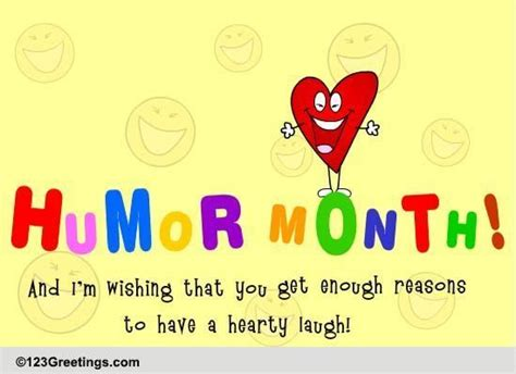 hearty laugh humor month ecards greeting cards