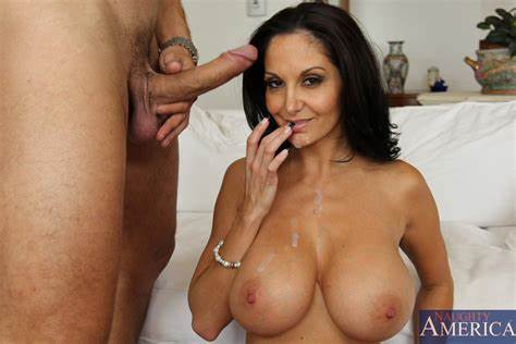 Buxom Brunette Drilling And Swallowing