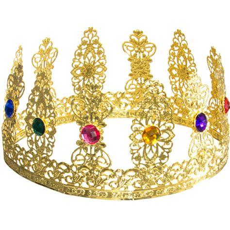 Gold Metal Filigree Jeweled Crown [25384GLAO ...