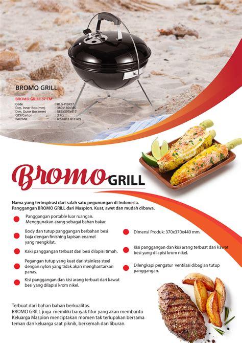 panggangan bromo grill logam jawa maspion