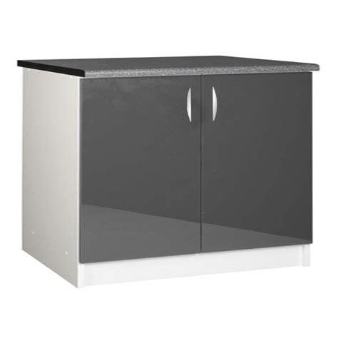 meuble bas 120 cm cuisine meuble cuisine bas 120 cm 2 portes oxane achat vente