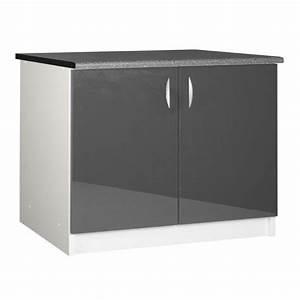 Meuble Bas Cuisine 120 Cm : meuble cuisine bas 120 cm 2 portes oxane achat vente ~ Dode.kayakingforconservation.com Idées de Décoration