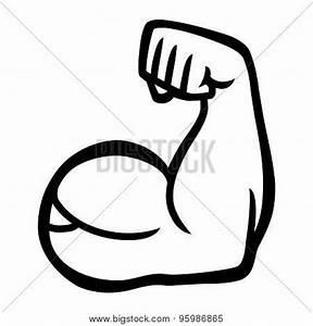 Biceps Flex Arm Vector Icon Vector & Photo   Bigstock