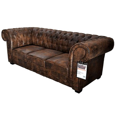 canapé chesterfield microfibre canapé 3 places de type chesterfield en tissu microfibre