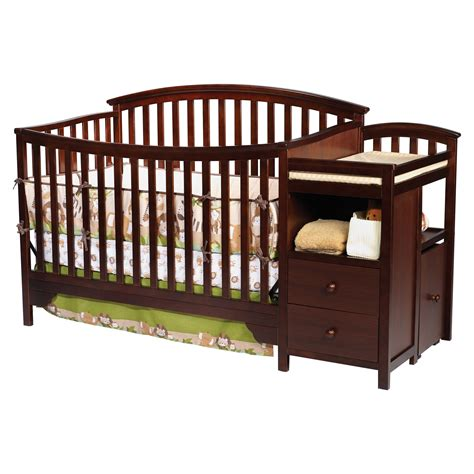baby crib with changer delta houston crib and changer kmart