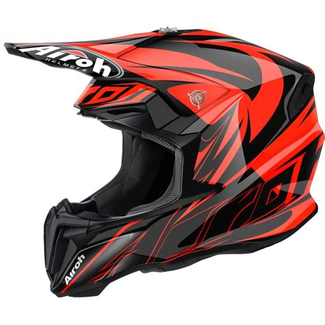 motocross helmet airoh twist motocross helmet evil orange motorcycle