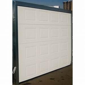 Porte de garage sectionnelle 300x200 k7 blanc achat for Porte garage 300x200