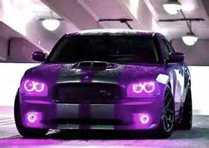 Purple and Black Dodge Charger