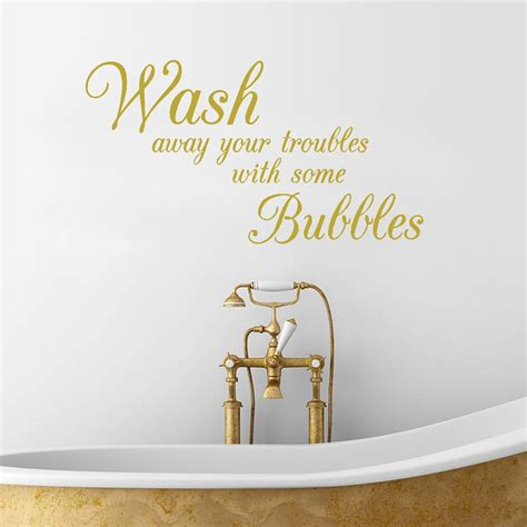 bathroom wall stickers wash   troubles waterproof removable vinyl wall art decals