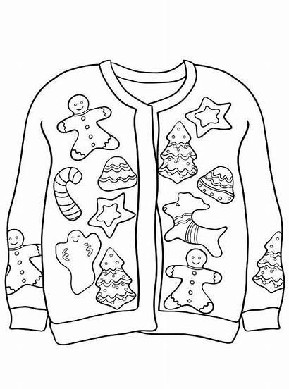 Sweater Ugly Kerst Foute Kersttrui Jumper Coloring