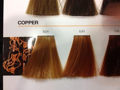 loreal inoa copper colour chart hair color formulas