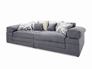 Möbel Shop Online : megasofa self alina stoff grau self 1033 big sofa bht ~ Lateststills.com Haus und Dekorationen