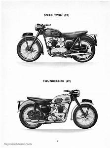 1957 Triumph Speed Twin  Thunderbird  Tiger 100 110 And