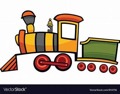 Train Cartoon Locomotive Vector Royalty Vectors Vectorstock