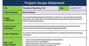 project scope statement template project scope statement template project management
