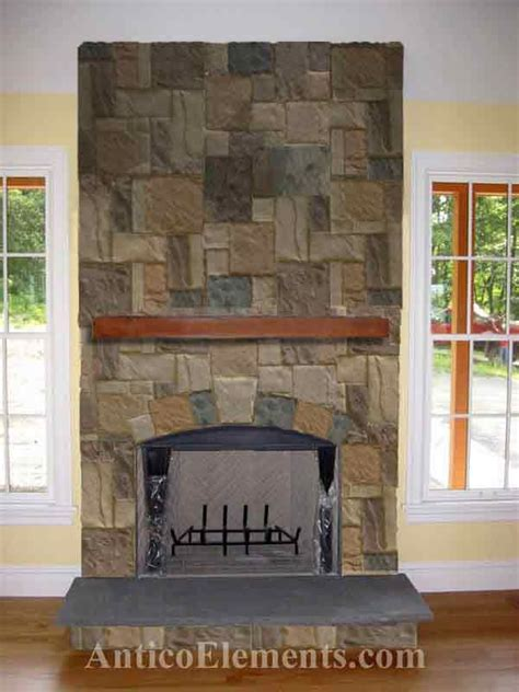 faux stone fireplaces ideas  pinterest river