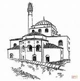 Mosque Coloring Sophia Hagia Pages Printable Supercoloring Drawing Tower Architecture Super Puzzle Taj Mahal sketch template