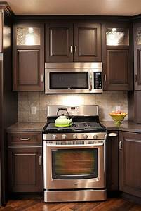 brown painted cabinets 2303