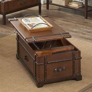 steamer trunk lift top cocktail table by riverside With cocktail trunk coffee table