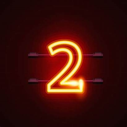 Neon Vector Number Sign Clip Illustrations Font