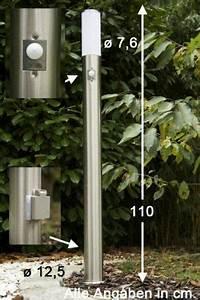 Stehlampe Mit Bewegungsmelder : stehlampe mit steckdose und bewegungsmelder aus edelstahl garten outdoor decor home decor ~ Orissabook.com Haus und Dekorationen