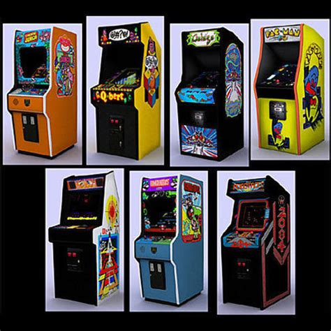 3d Model Classic Arcade Games Pack 2 Cgtrader