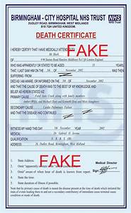 sample death certificate south africa image collections With fake death certificate template