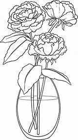 Vase Drawing Flower Peonies Vases Flowers Printable Drawings Plant Peony Pages Embroidery Colouring Beccysplace Place Decor Change Challenge Beccy Se sketch template