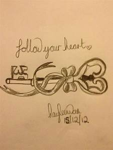 Follow You Heart Key Tattoo Design: Real Photo, Pictures ...