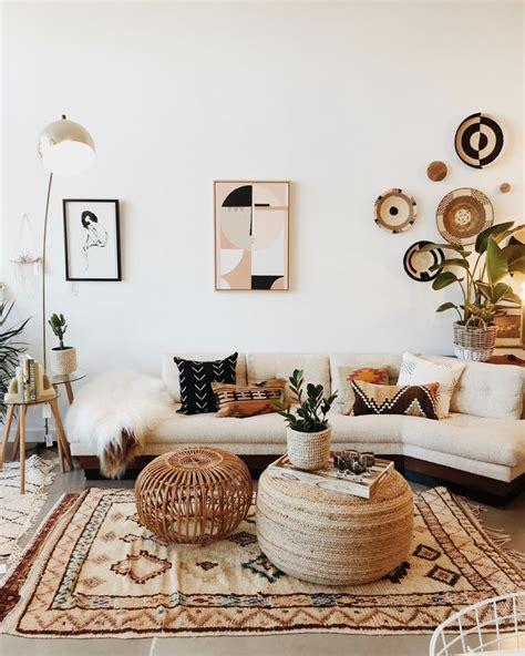 Interior boho design living room home decor A mix of