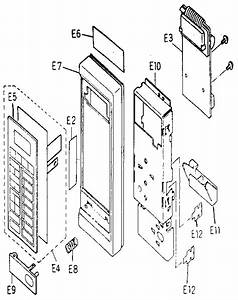 Panasonic Microwave Oven Control Panel Parts