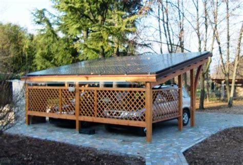 costruire tettoia legno auto gazebo in legno fai da te progetto